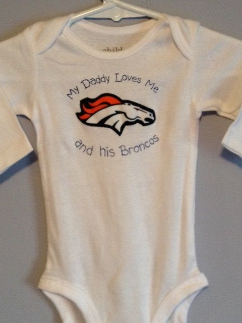 Broncos Onesie For Younger Fans Denver Broncos Baby Baby