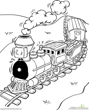 Train Coloring Pages | Education.com | coloring pages | Pinterest ...