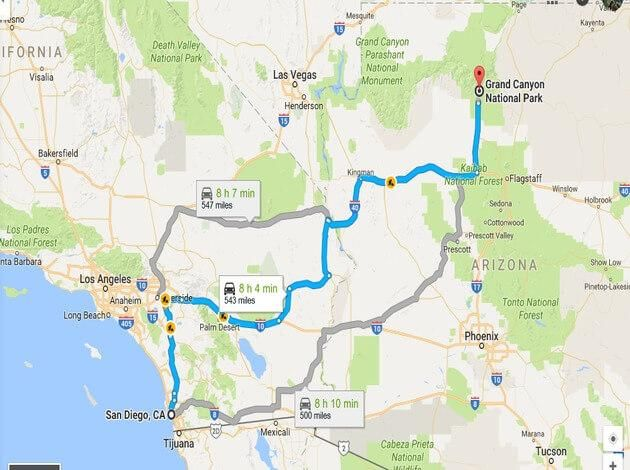 Best Route For San Diego To Grand Canyon Road Trip Trip To