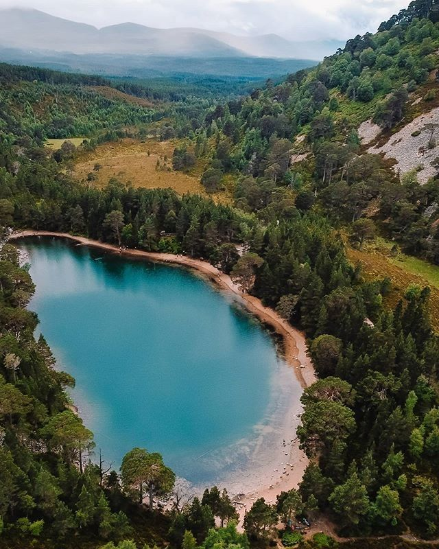 "VisitScotland on Instagram: ""With views like these, why go anywhere else! 😍 What a shot from @show_me_scotland_ overlooking An Lochan Uaine in the Cairngorms National…"""