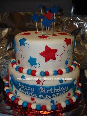 Prime Coolest Patriotic Birthday Cake Cake Star Cakes Patriotic Cake Funny Birthday Cards Online Fluifree Goldxyz