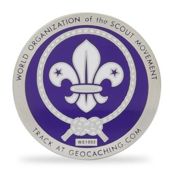 World Scouting Geocache Trackable Coin   Geocaching