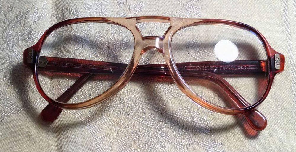 VTG '70's AO Plastic Frame Aviator Style Eyeglass Frames