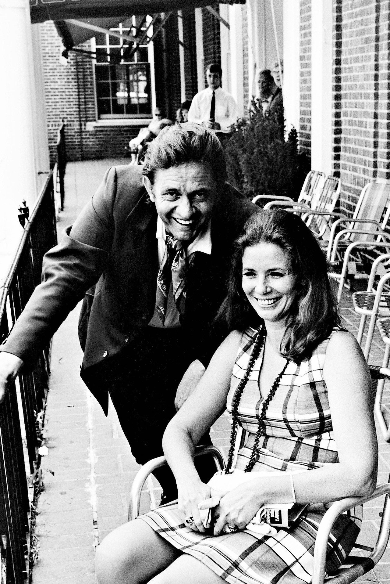 Johnny Cash and June Carter at the Newport Folk Festival ...