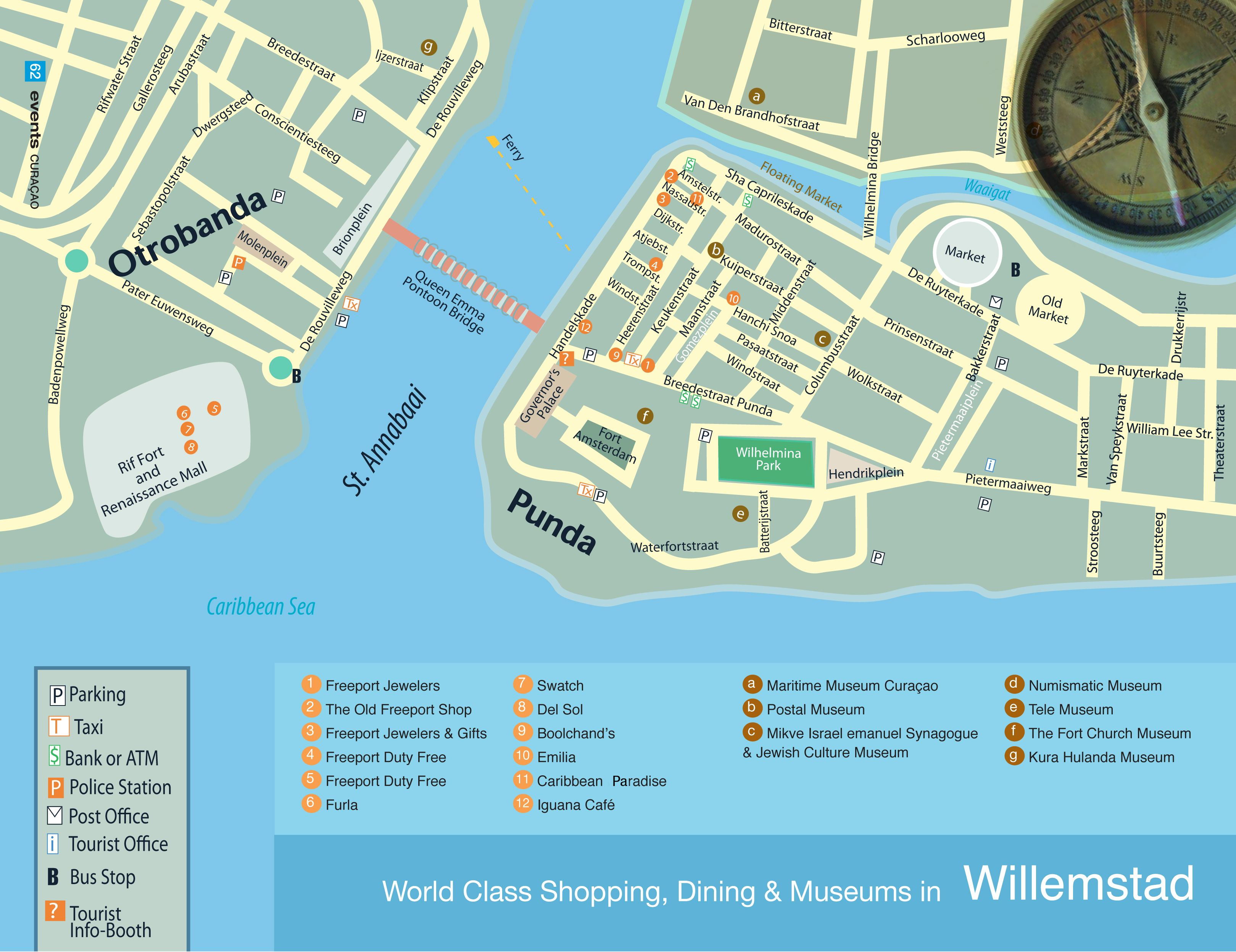 Willemstad Curacao Map