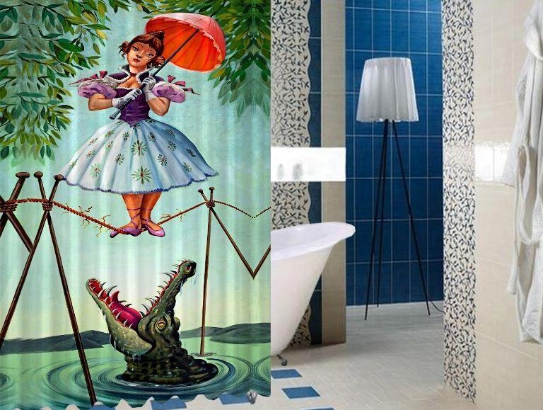 Stretching Disney Haunted Mansion High Quality Custom Shower
