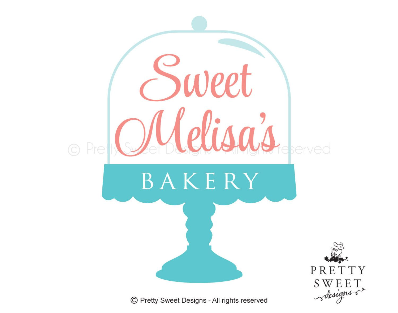 bakery logo cake stand blog logo freelancer logo cake