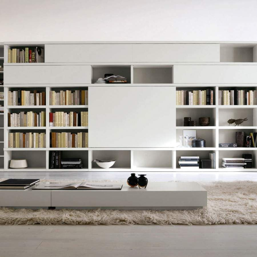 Modern White Bookcase