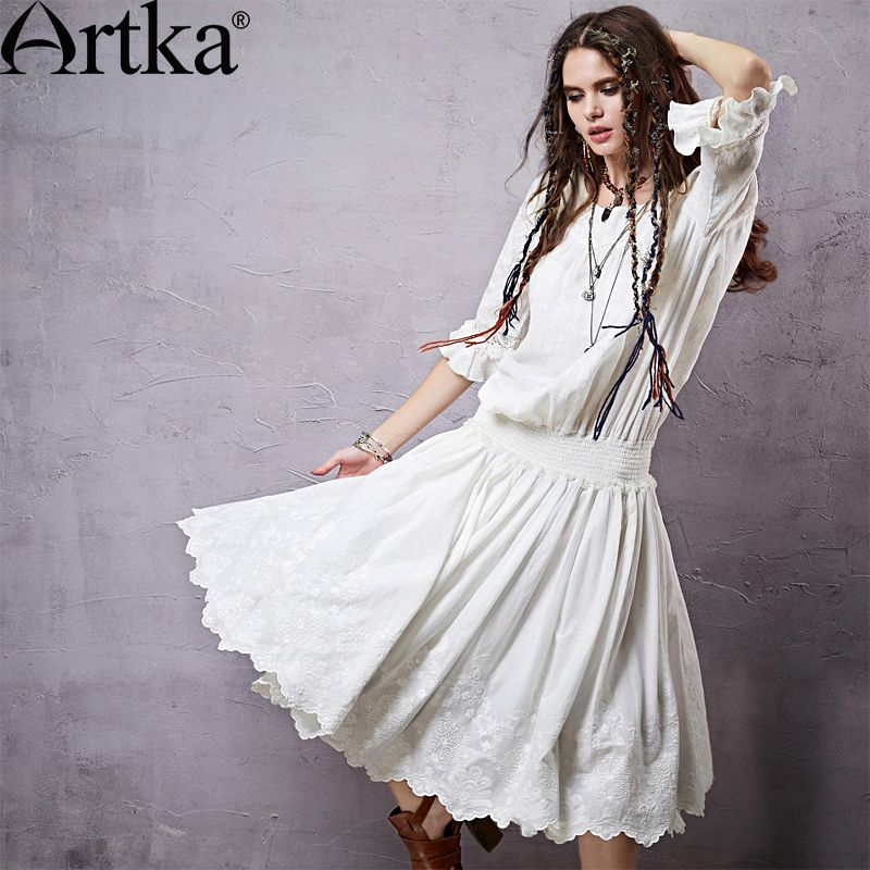 Find More Information about Artka Women\'s Spring Bohemian White ...