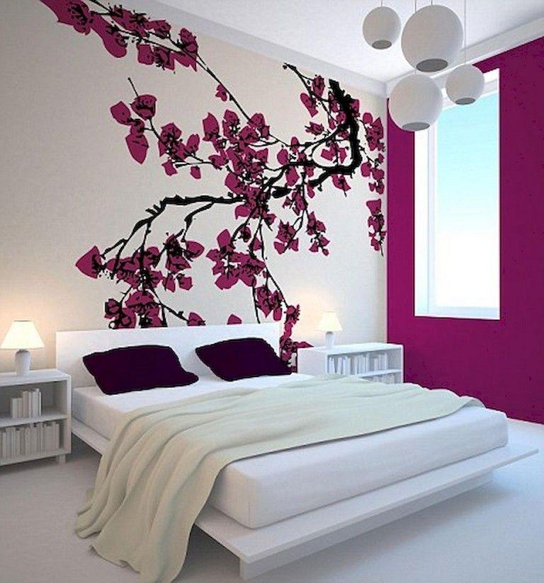 50 Stunning Creative Bedroom Wallpaper Decor Ideas Japanese Bedroom Decor Beautiful Bedroom Designs Japanese Style Bedroom