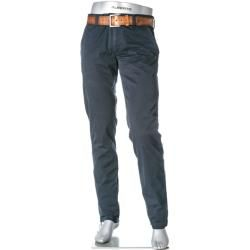 Photo of Alberto Men's Chinos Lou, Regular Slim Fit, Pima Cotton, navy blue Alberto