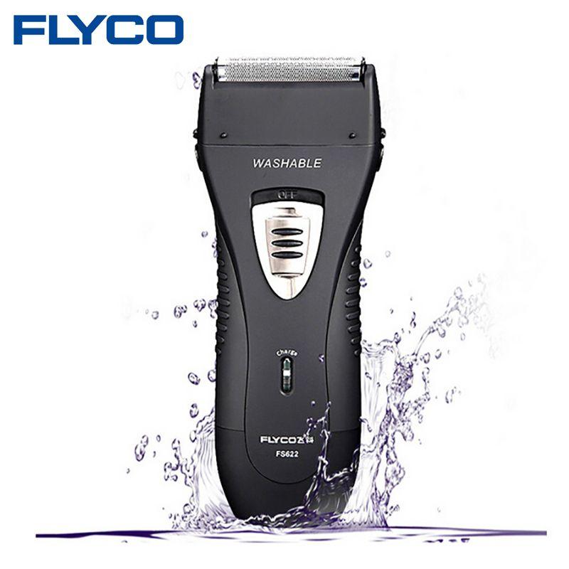 FLYCO Wet/Dry Wasserdichte Kolben Twin Klinge Wiederaufladbare männer Elektrorasierer Rasierer Mit Pop-up Trimmer Gesicht pflege FS622