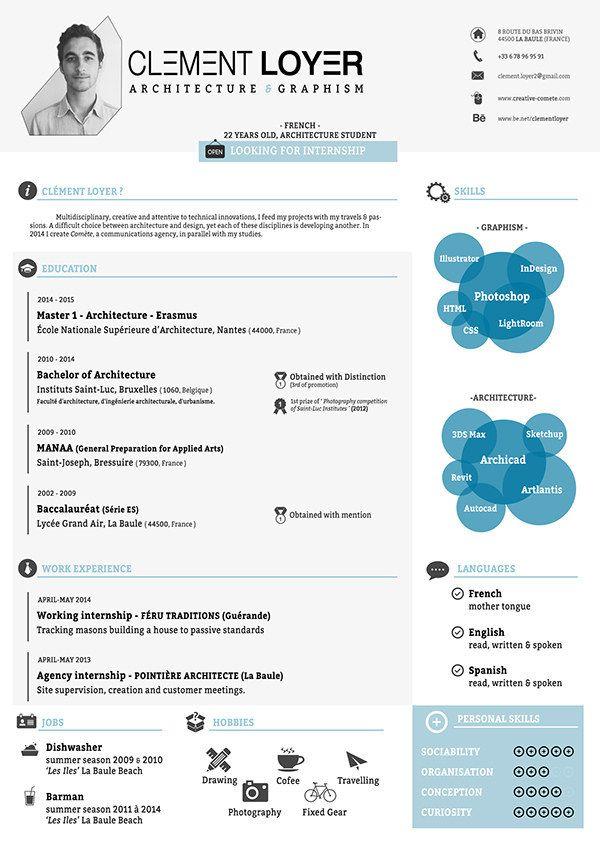 21 Free Résumé Designs Every Job Hunter Needs | Pinterest | Template ...