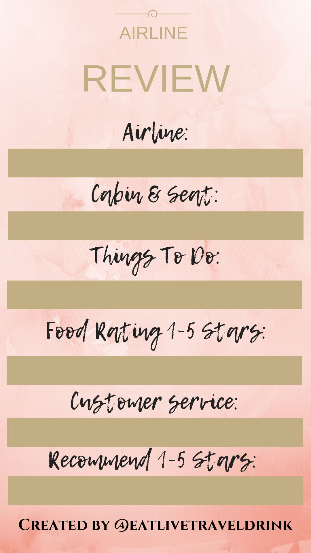 Instagram Stories Template Airline Review Card Instagram Story Template Story Template Instagram