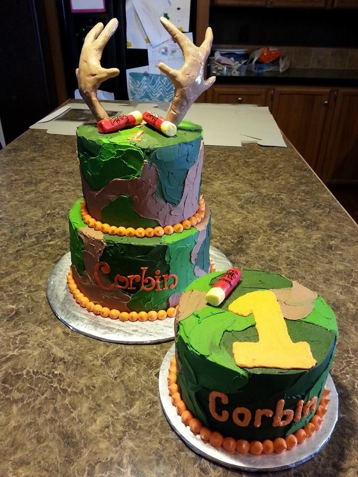 Camo Hunting Deer Cake with Smash Cake Sweet November Cakes