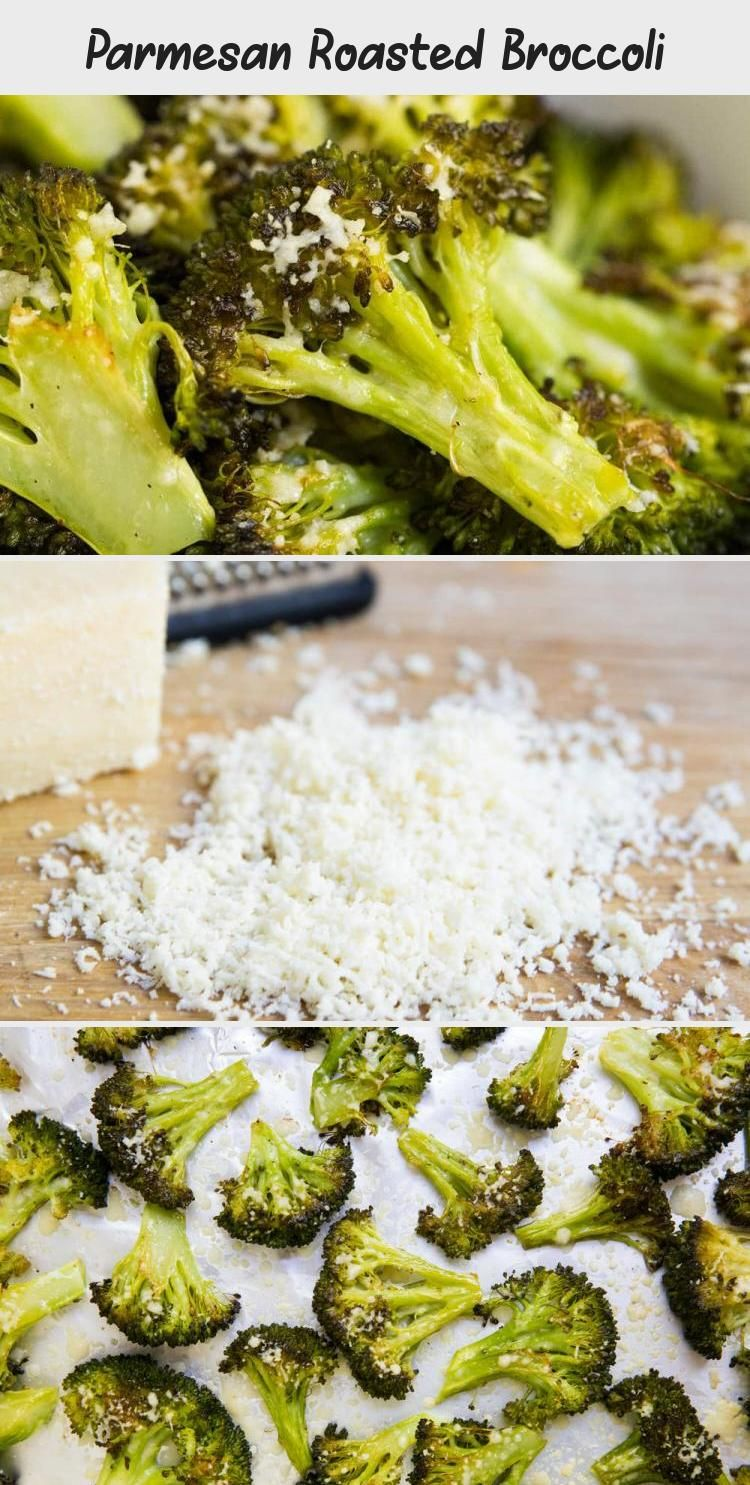 Parmesan Roasted Broccoli - AKA the best broccoli ever! Such a simple, yet tasty side dish. Perfect