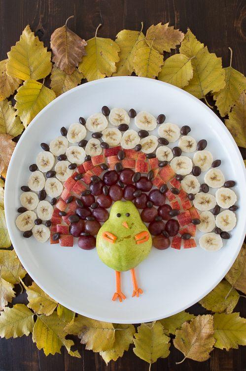 This Is The Ultimate Thanksgiving Menu According To Pinterest Turkey Fruit Platter Fruit Platter Fun Kids Food