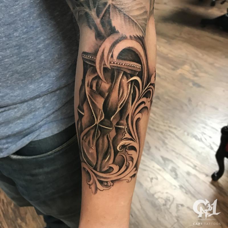 8581ec8fa9a1c Realistic Black and Gray Hourglass | @tattoosbycapone | Cap1 Tattoos ...