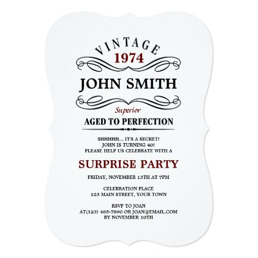 Vintage Aged to Perfection Funny Birthday Invite Funny birthday - email invitations