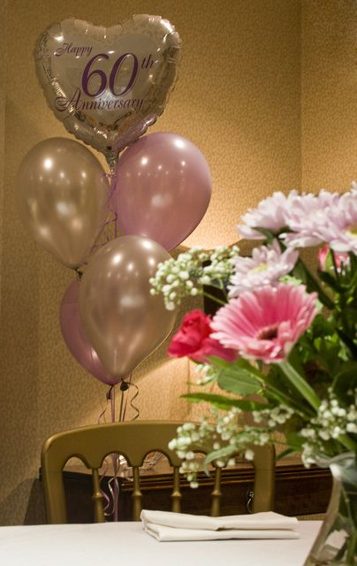 60th Wedding Anniversary Balloons By Lou Tickle Via Flickr 60 Wedding Anniversary 60th Anniversary Parties 8th Wedding Anniversary Gift