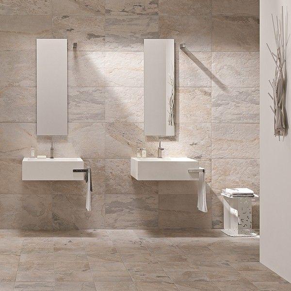Matowe Płytki ścienne łazienkowe Natural Slate Projekty