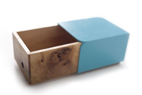 NIC Box - Tall | a small desk/table top storage box | Designer: Christopher Dela Pole - http://www.etsy.com/people/thisisnotasquare