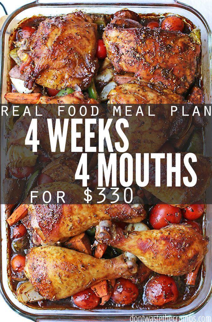 Summer Meal Plan Frugal Real Food Menu for June Frugal