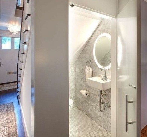49 Stunning Small Half Bathroom Designs Ideas | Bathroom ...