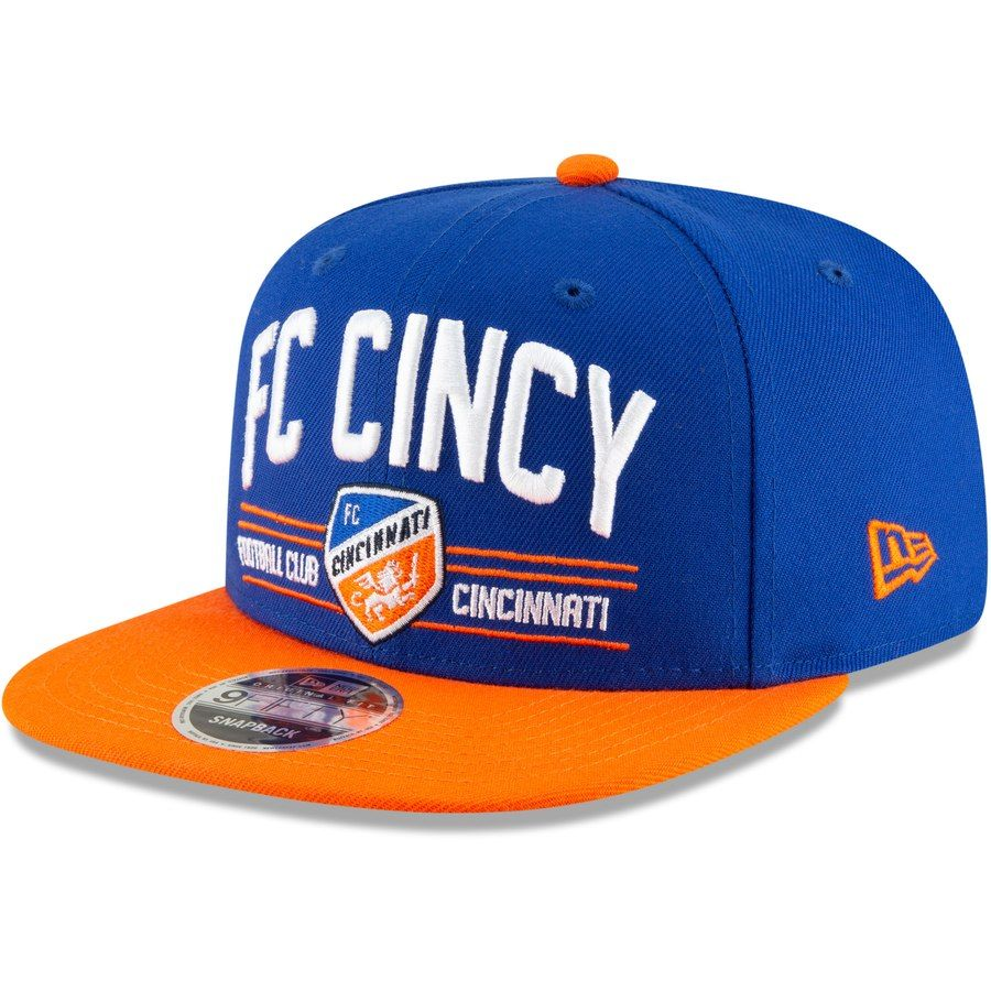 6684a730 FC Cincinnati New Era Satin Two-Tone 9FIFTY Snapback Adjustable Hat – Blue/