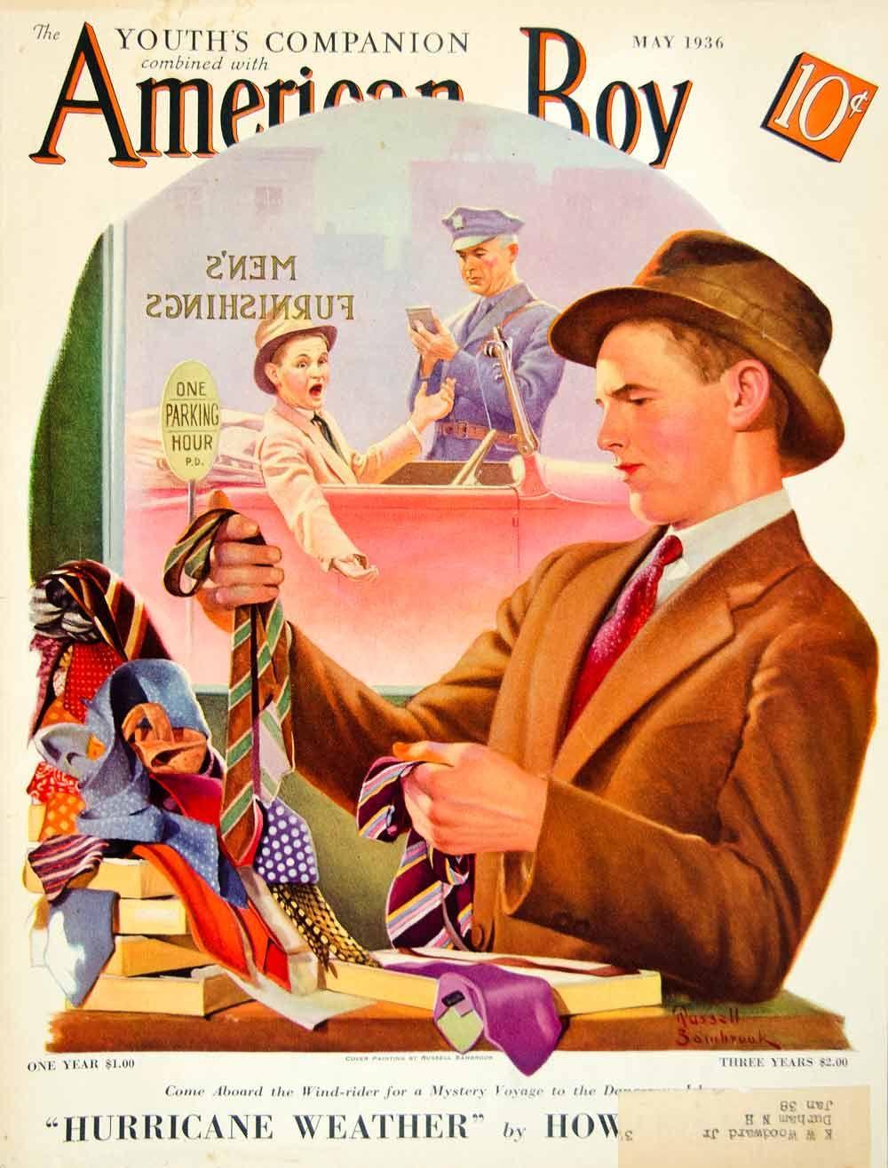 1936 cover american boy art russell sambrook shopping man