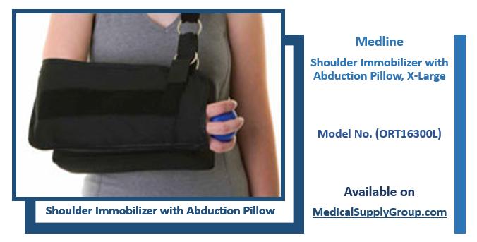 Medline Shoulder Immobilizer with Abduction Pillow, X-Large