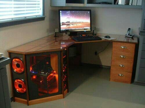 Pin By Larry Harroll On Nerdy Things Custom Computer Desk Diy Computer Desk Cool Computer Desks