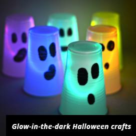 halloween ideas glow in the dark crafts - Scary Halloween Crafts