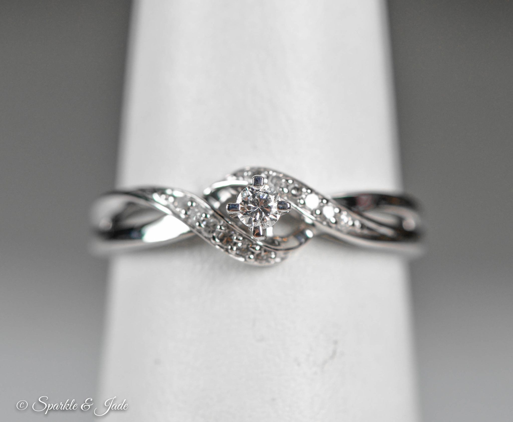 Sterling Silver Diamond Twist Promise Ring Diamond promise rings