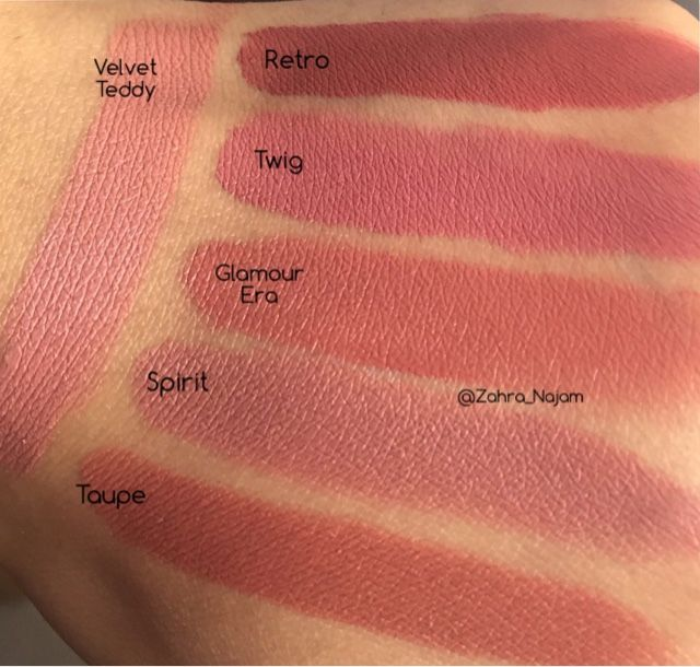 Beauty And The Muslimah: MAC Lipstick Swatches, Retro, Twig ...