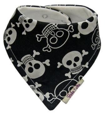 Pirate Dribble Bib Skulls Crossbones Fabric Ship Costume Baby Bandana Halloween