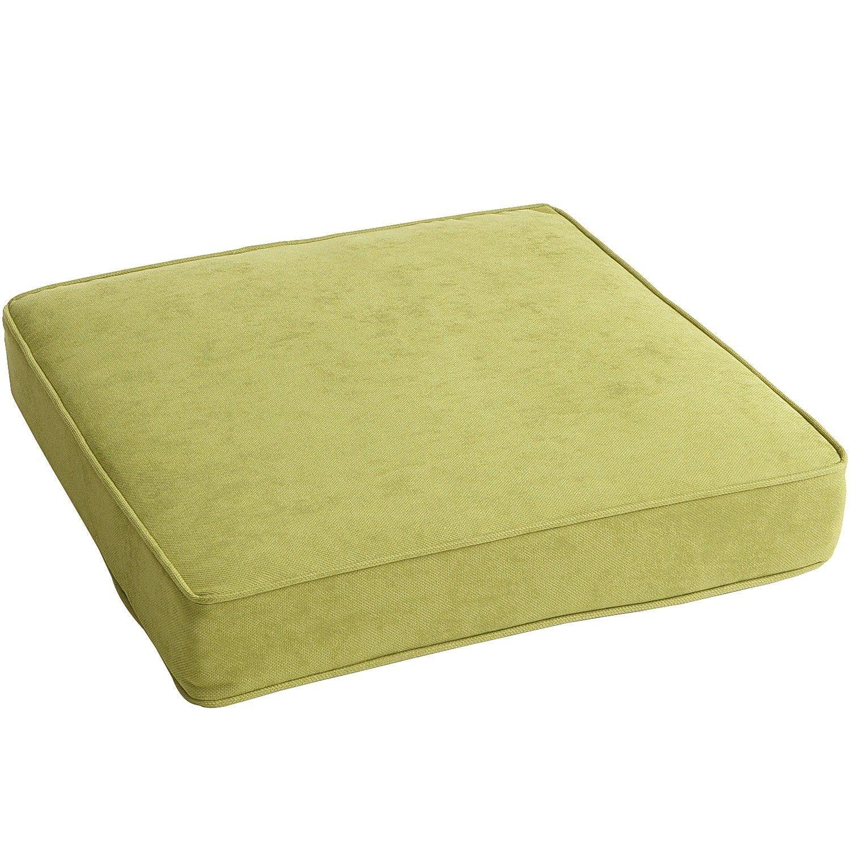 Standard modular seat cushion in calliope moss outdoor cushions