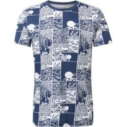 Photo of Tom Tailor Denim Men's T-Shirt with all-over print, blue, patterned, size xs Tom TailorTom Tailor