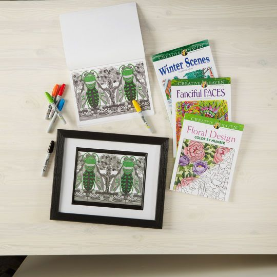 Framed Coloring Page Color Crafts Handmade Home Decor