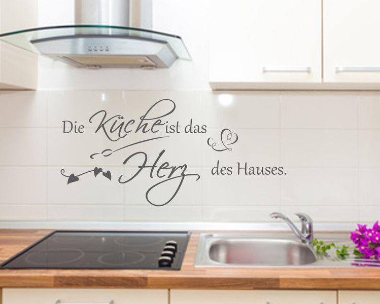 Wandtattoo Wandspruch Küche Herz Haus Wandsticker Pinterest