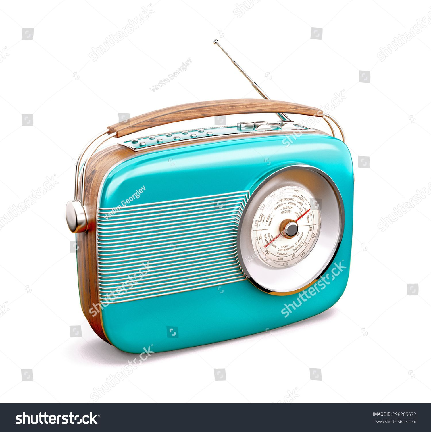 Vintage Radio On White Background Sponsored Sponsored Radio