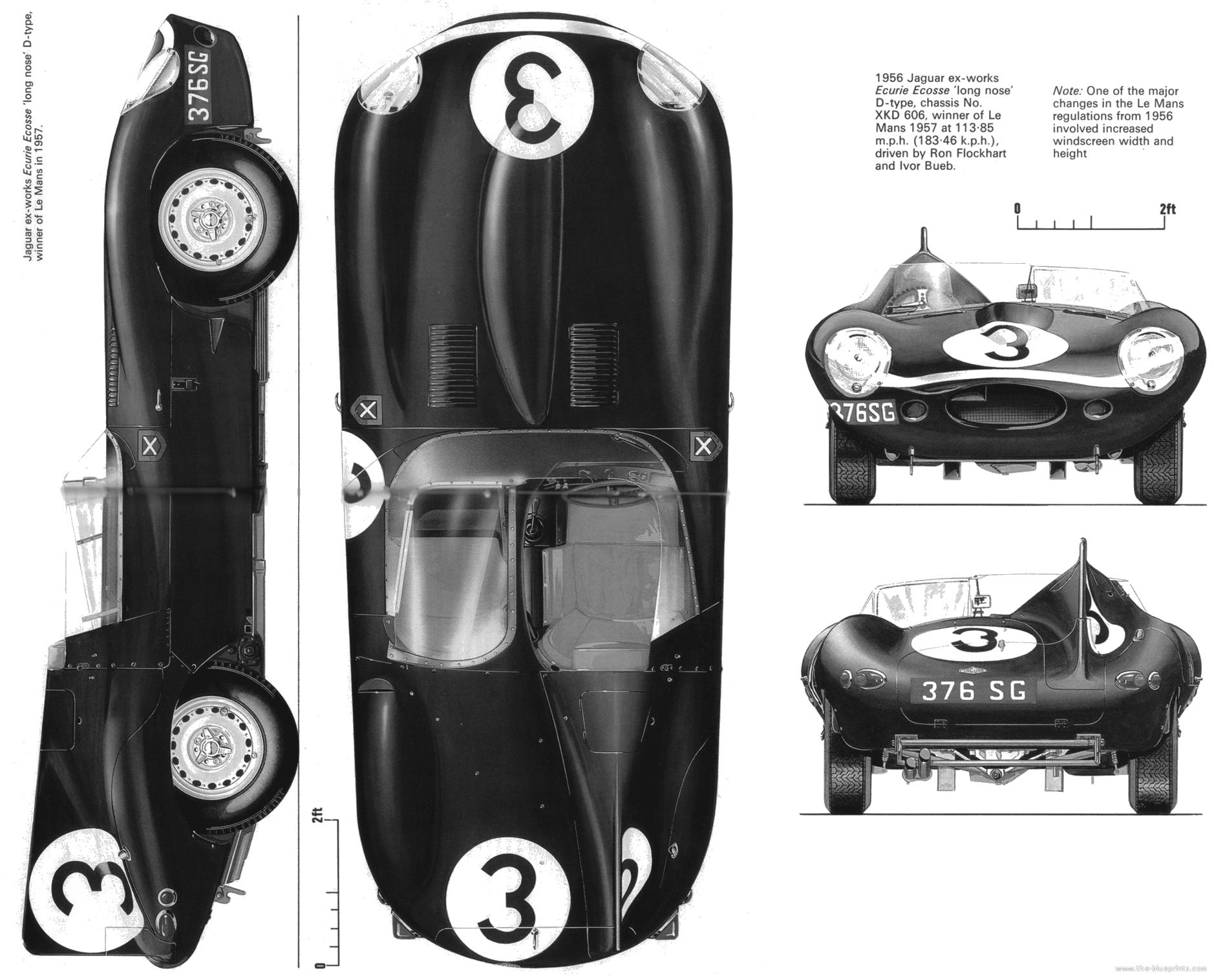 D Type Jaguar Official Drawings Auto Racing Pinterest Wiring Diagrams 1957 Xk140 Of The 24 Hours Lemans Winner