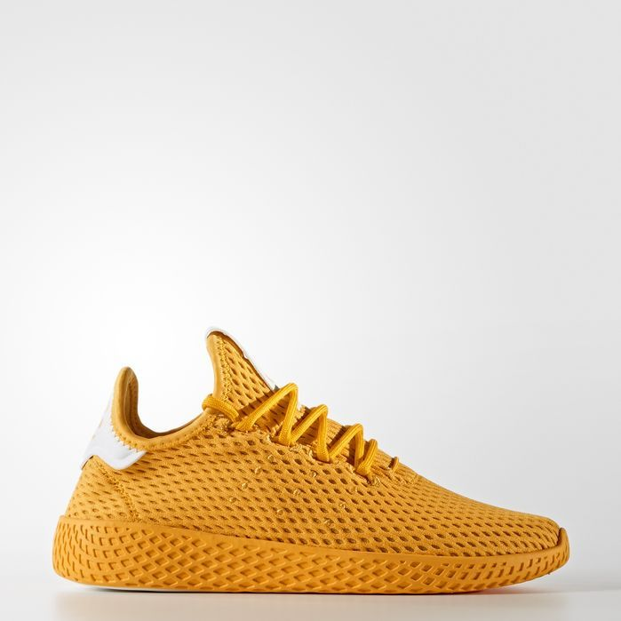 Adidas Pharrell Williams Tennis Hu Shoes Kids Shoes Yellow Adidas Williams Tennis Adidas