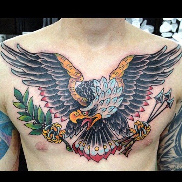 Bartbingham Eagle Chest Tattoo