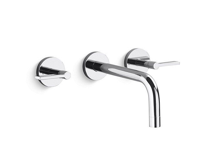 One Wall Mount Sink Faucet Lever Handles P24410 Lv Faucets