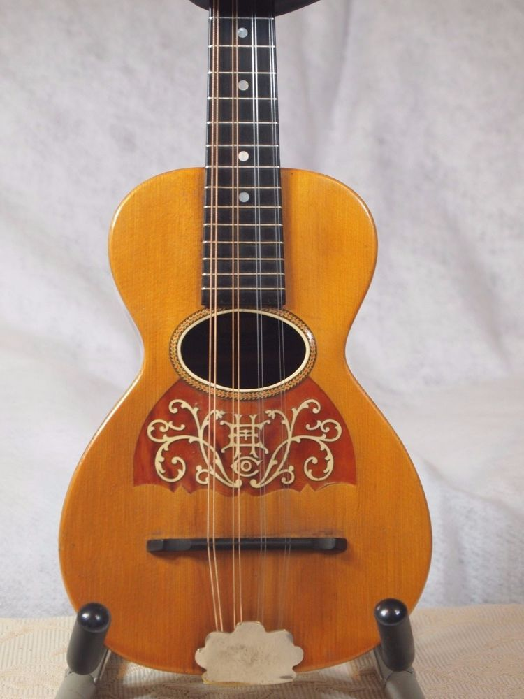 Rare Antique Vintage Rare Howe Orme Mandolinetto  Ukulele Guitar Shaped Mandolin