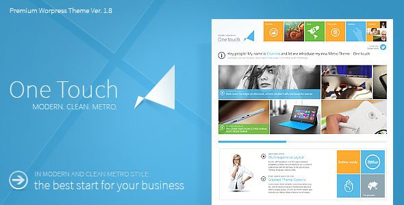 One Touch - Multifunctional Metro Stylish Theme | Plantilla de ...