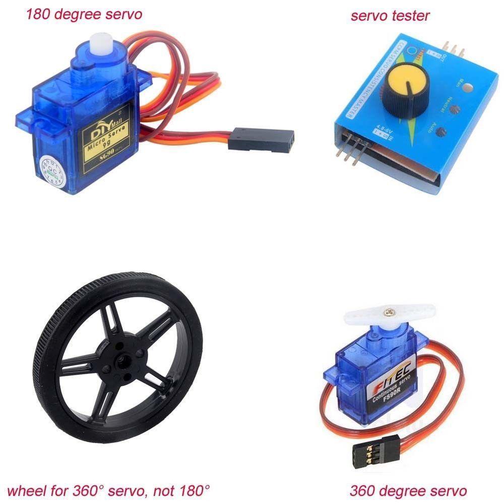 Feetech 360 Degree Continuous DIYmall 180 Degree Servo Wheel ...
