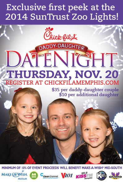 A Date Daddy Memphis Night Chick Fil Daughter
