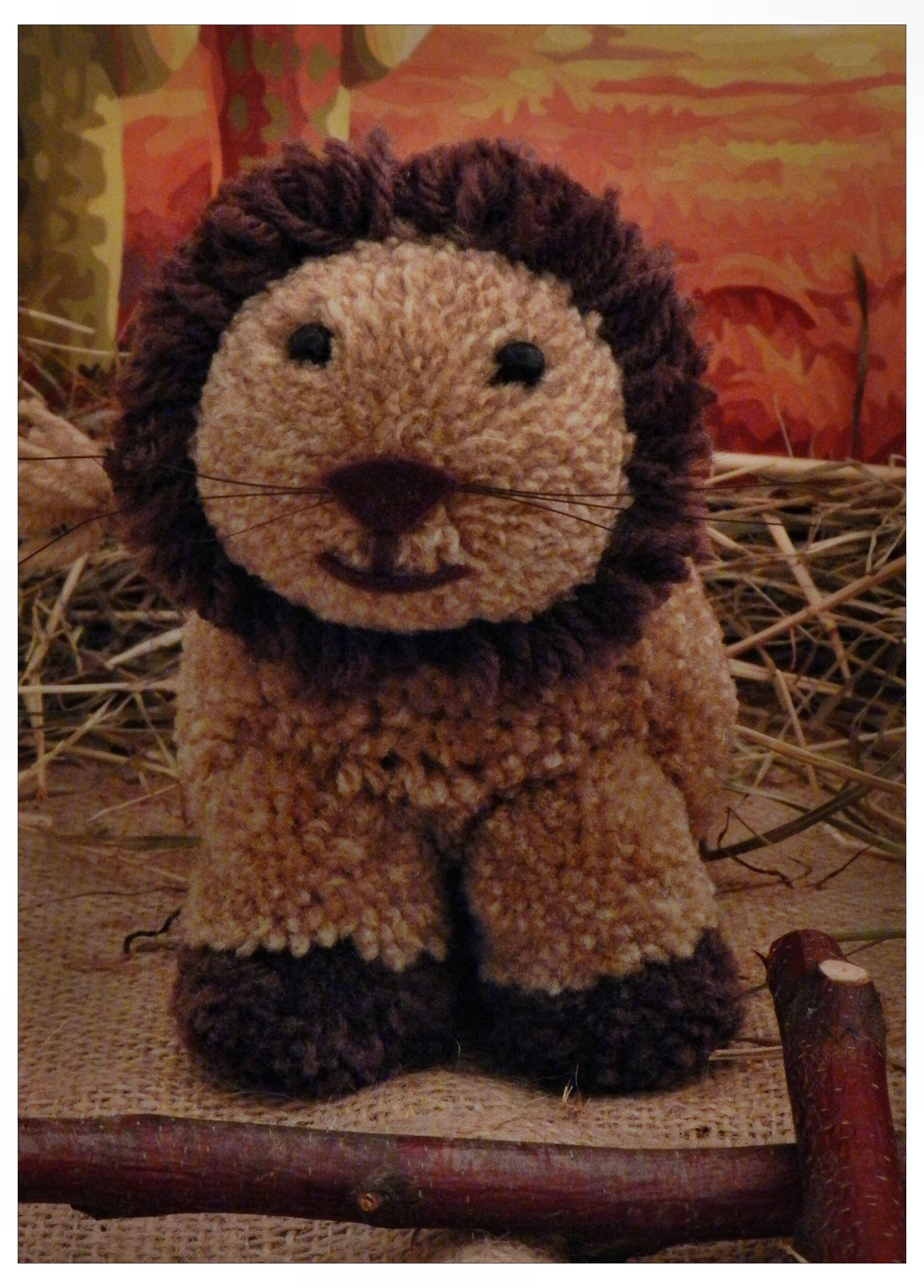 Löwe aus Pompons basteln | Bommeltiere | Pinterest | Pompons basteln ...